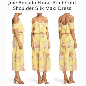 Joie $398 silk maxi dress xs